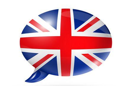 British flag speech bubble
