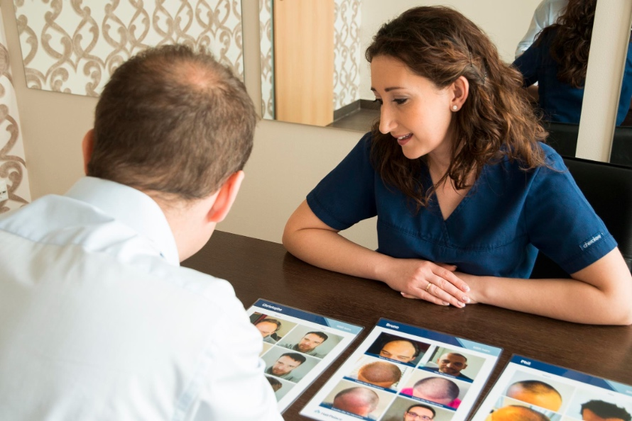 Consultation in London with a Hair transplant specialist.